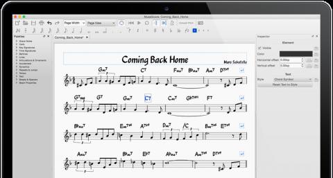 Home-scherm MuseScore-site